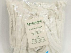 Bonete unica folosinta cu elastic GreenLine Alb